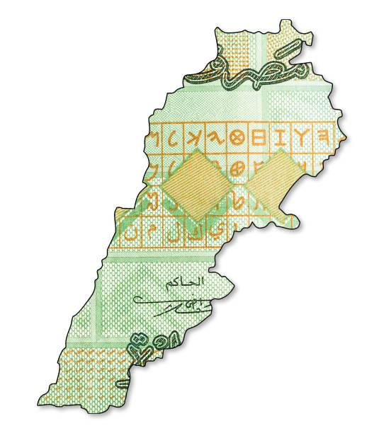 1000 libanesische Pfund Banknote obversein Form des Libanon – Foto