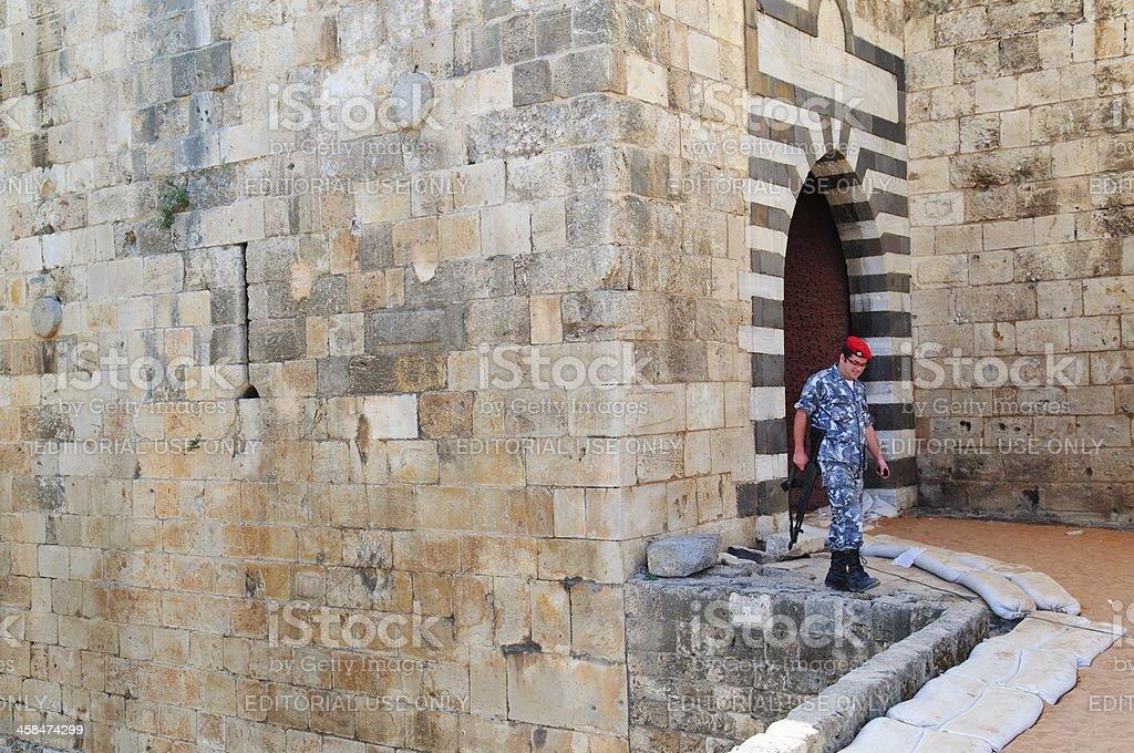 Libanesische Soldaten in Tripolis Zitadelle – Foto