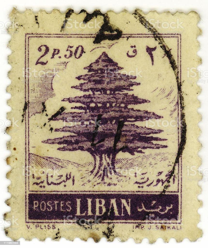 Lebanese Stamp stock photo