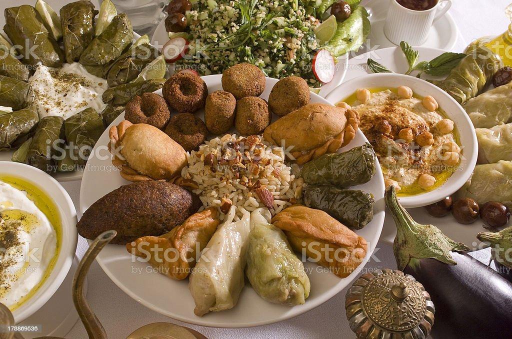 Lebanon Dish stock photo