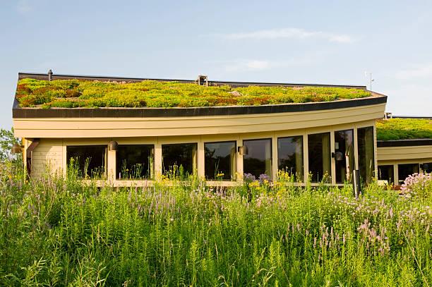 Lebanon Hills Visitor Center and Garden stock photo
