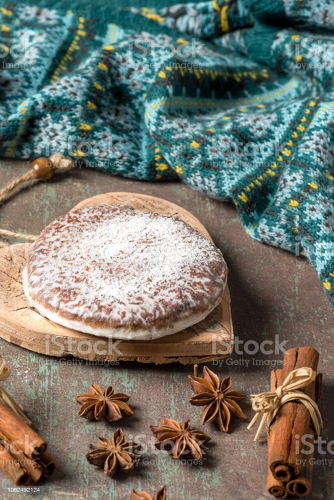 Lebkuchen are spicy Christmas cookies of Nuremberg - Germany. - foto stock
