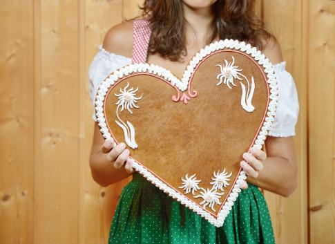 Lebkuchen Gingerbread Heart with Copy Space (XXXL)