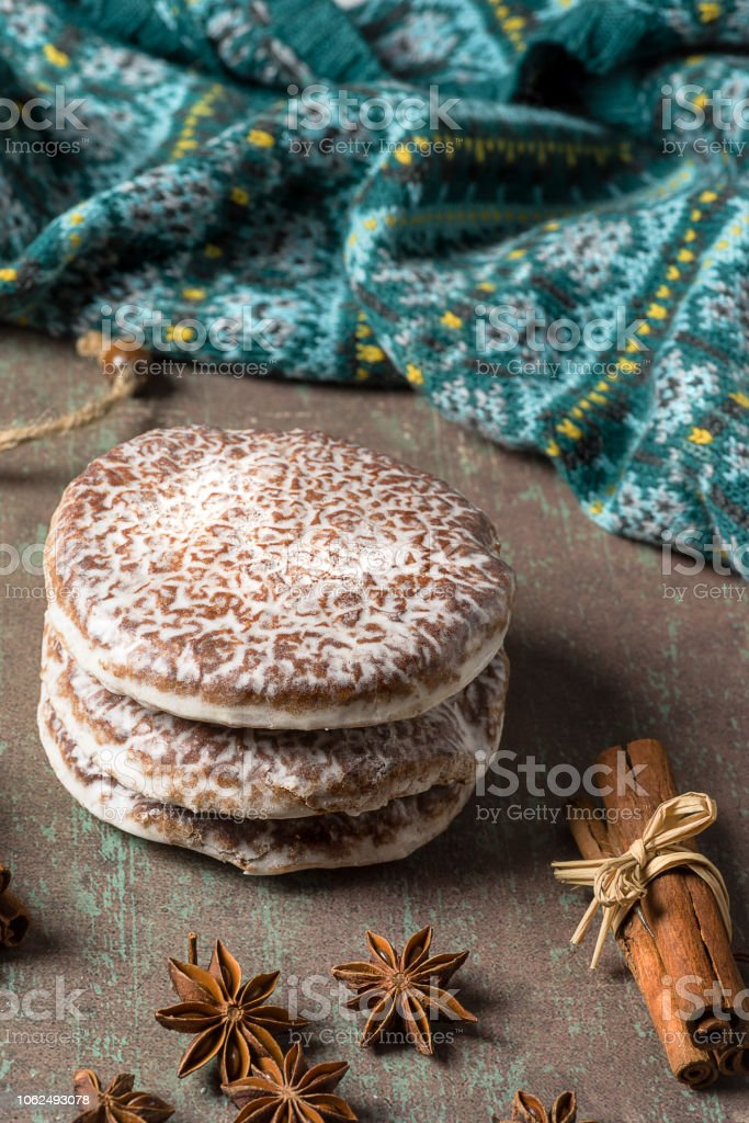 Lebkuchen Typical Spicy Christmas Cookies Of German Origin