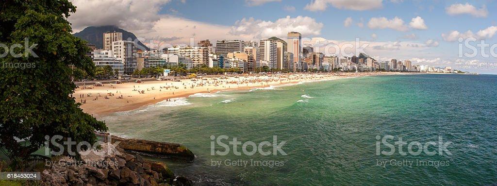 Leblon and Ipanema Rio de Janeiro beaches stock photo