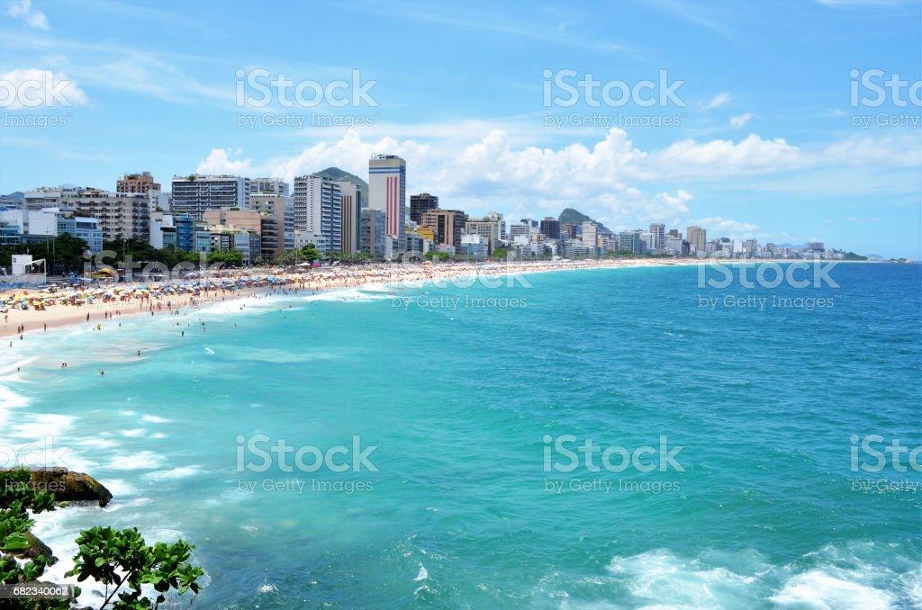 Leblon Beach stock photo