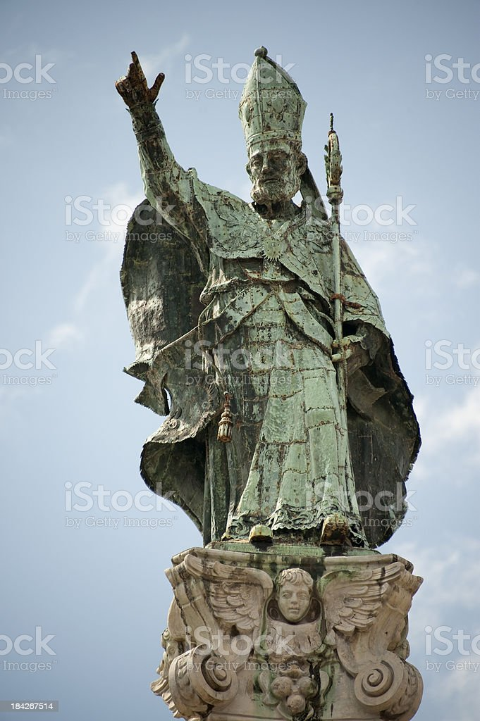 Lecce,  Column of Sant'Oronzo. royalty-free stock photo