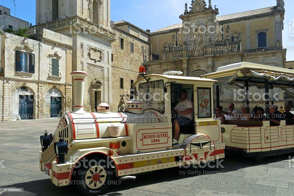 Lecce Italy tourist train stock photo