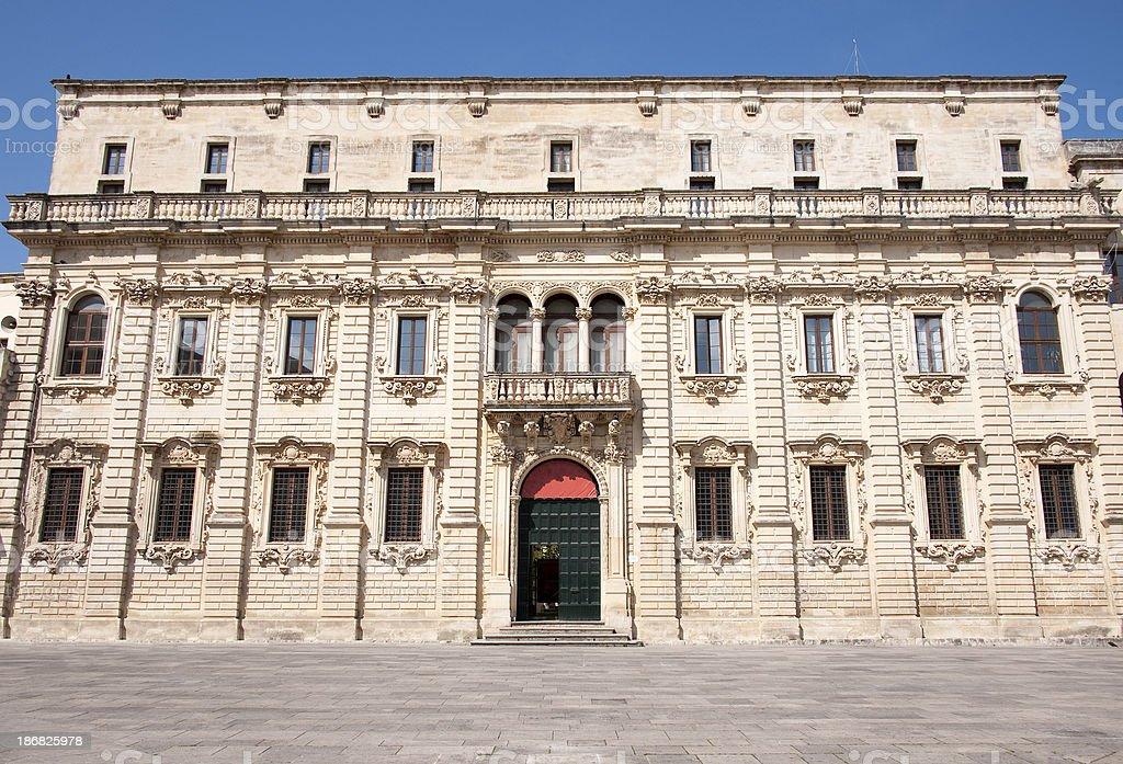 Lecce,  Palazzo del Seminario. royalty-free stock photo