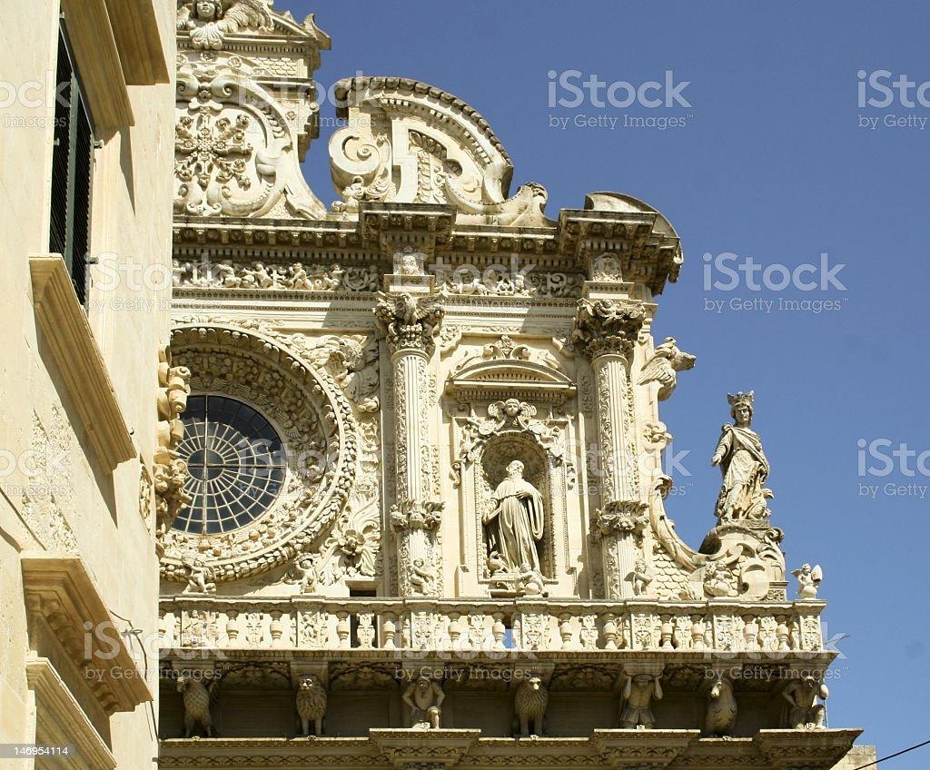 Lecce, Santa Croce churc stock photo