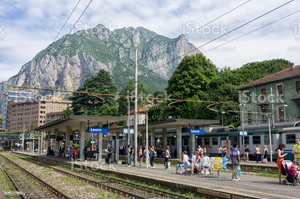 Lecco train station stock photo