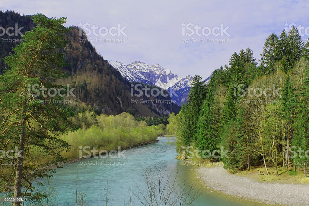 Lech River, Germany stock photo