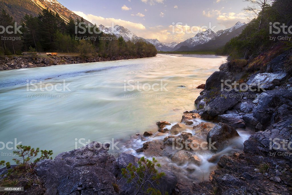 Lech River stock photo