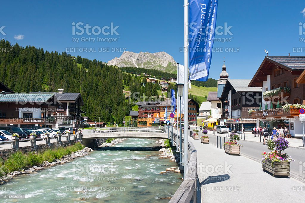 Lech Valley, Austria stock photo
