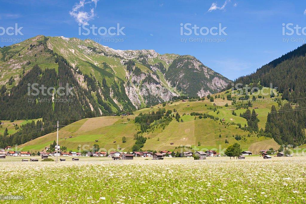 Lech Valley Near Holzgau, Austria stock photo