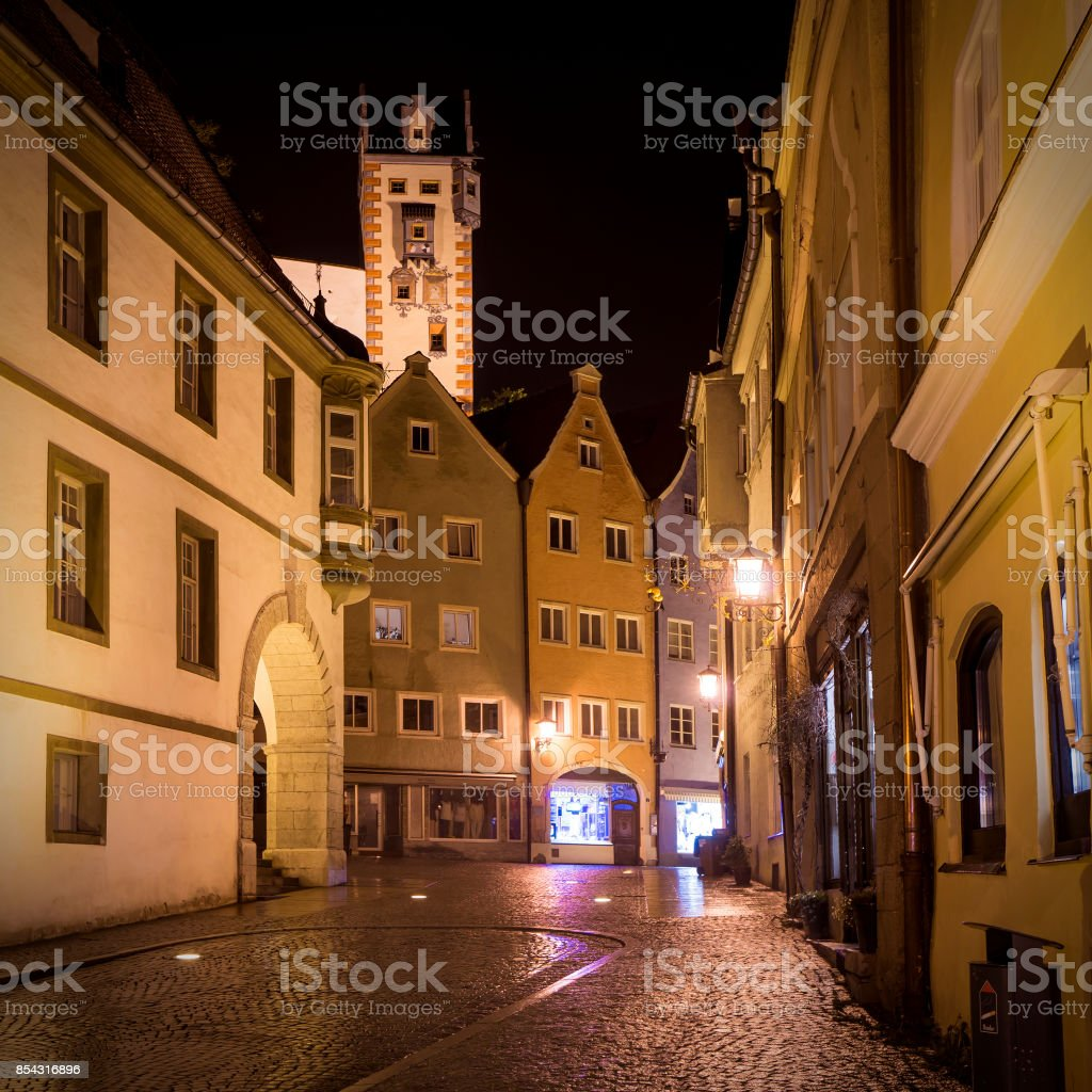 Lechhalde in Fussen, Bavaria, Germany stock photo