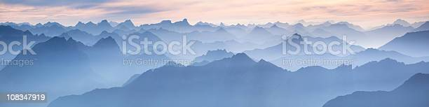 Photo of lechtal panorama from mt. zugspitze - germany