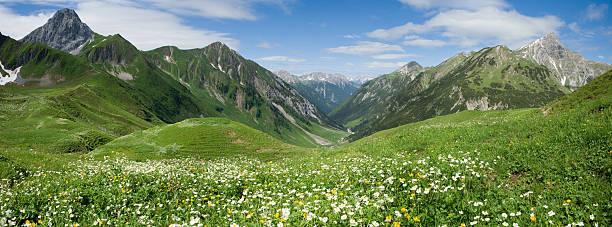 lechtal panorama - dolina zdjęcia i obrazy z banku zdjęć