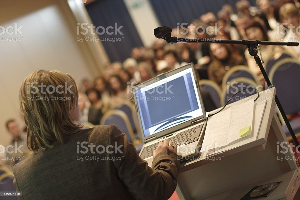 Lecture at Convention stock photo