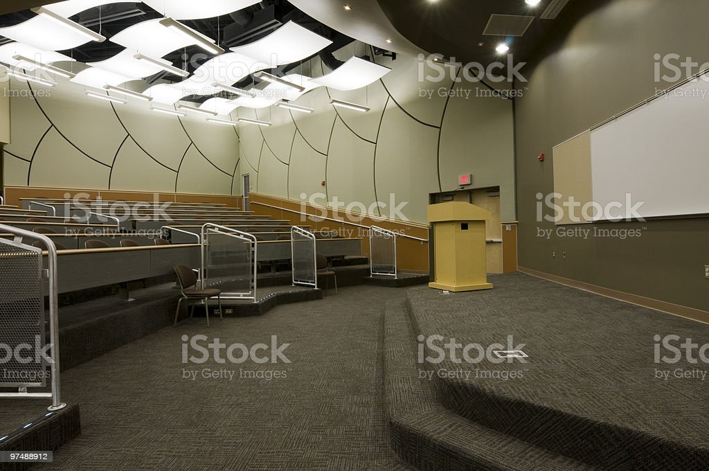 Lecture Classroom at College royalty-free stock photo