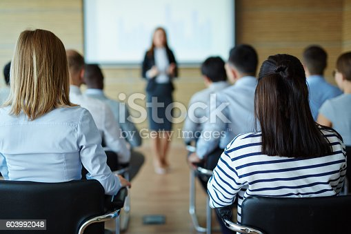 istock Lecture for business people 603992048