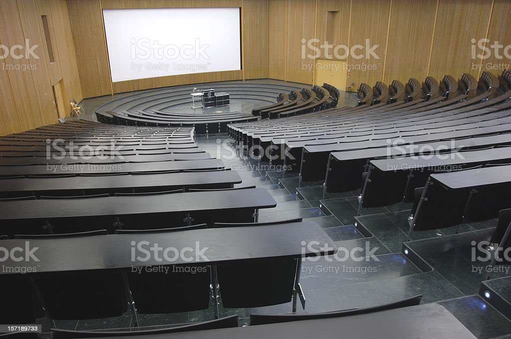 lecture hall 2 stock photo