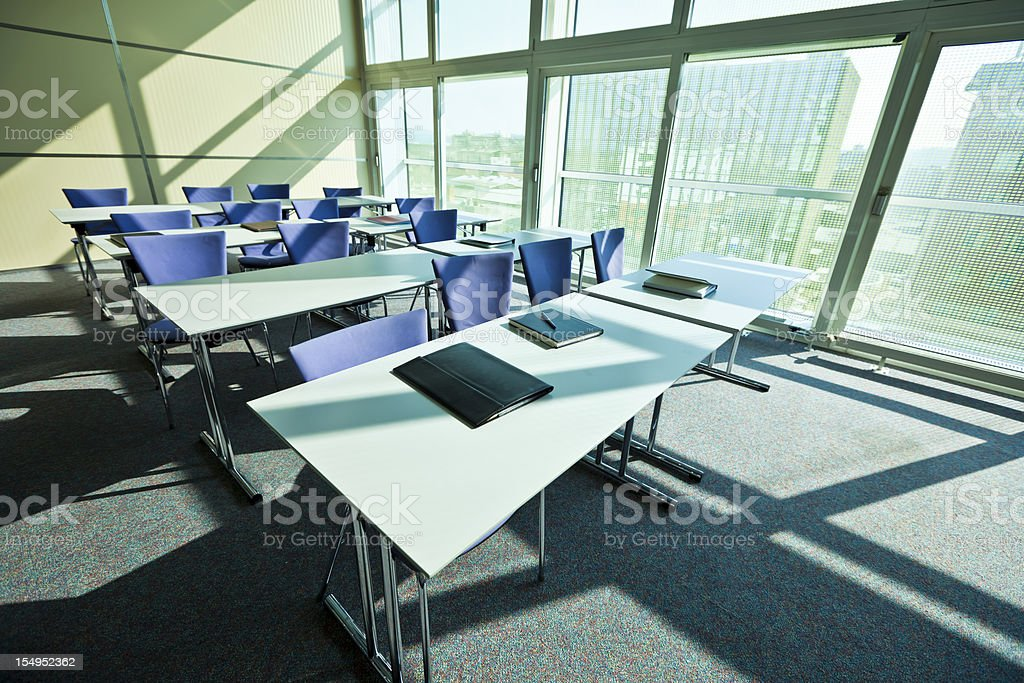 Lecture hall in convention center royalty-free stock photo
