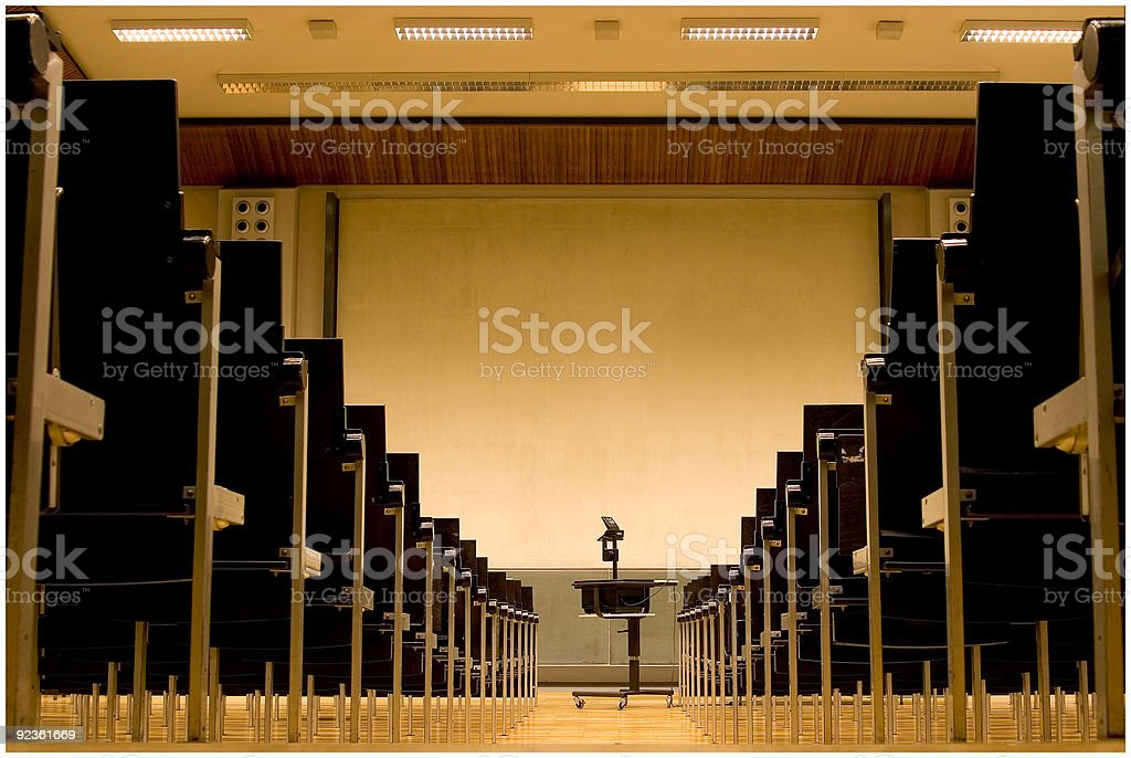 lecture hall of a university royalty-free stock photo