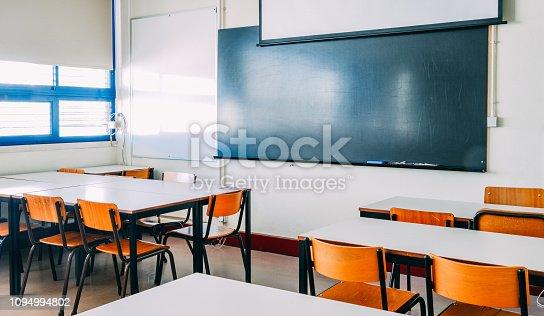 istock Lecture room or School empty classroom 1094994802