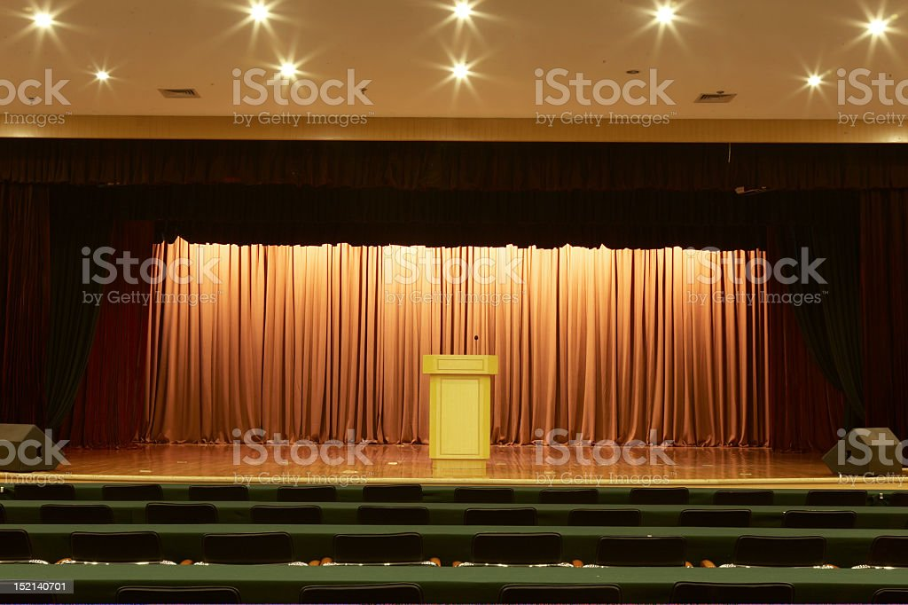 Lecture room royalty-free stock photo