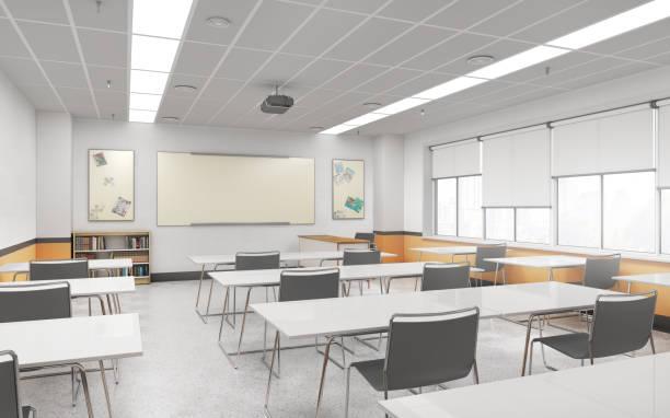 Lecture school  hall interior. 3d illustration stock photo