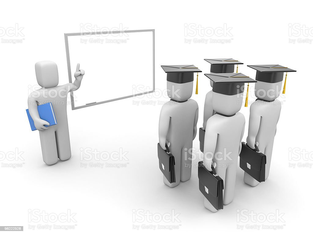 Lecturer and business students royalty-free stock photo