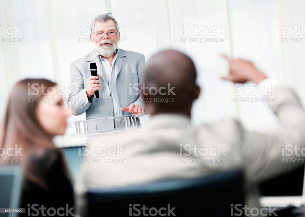 lecturers lecture business content royalty-free stock photo