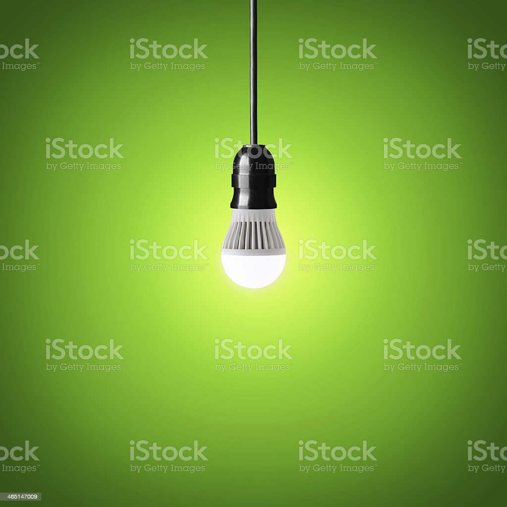 led bulb stock photo