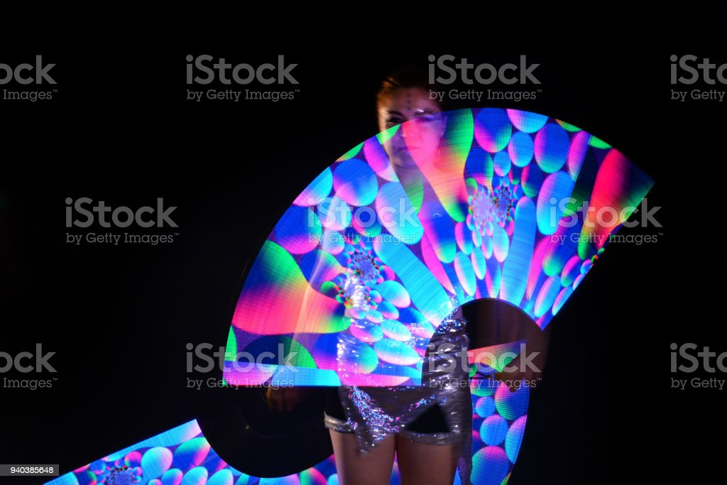 Led Suits Dancer Lamp In Laser Poi With Performance Show WCBerdox