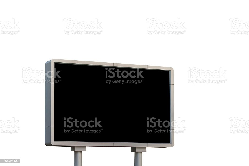 led sign board stock photo