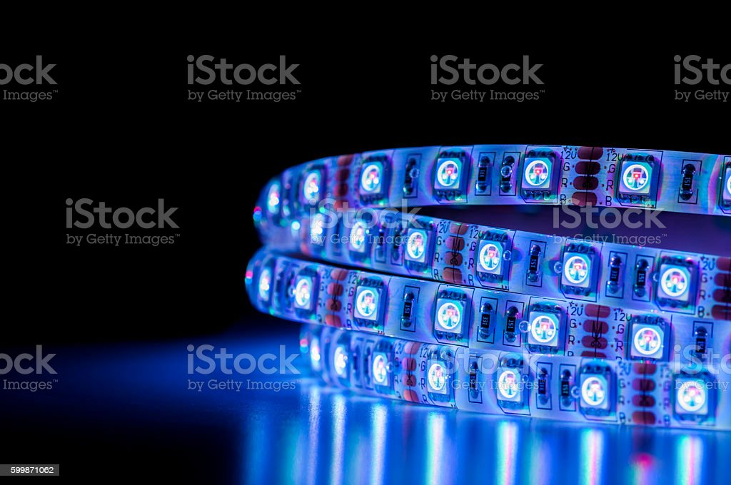 Led strip lights blue color fotografa de stock y ms imgenes de led strip lights blue color foto de stock libre de derechos aloadofball Image collections