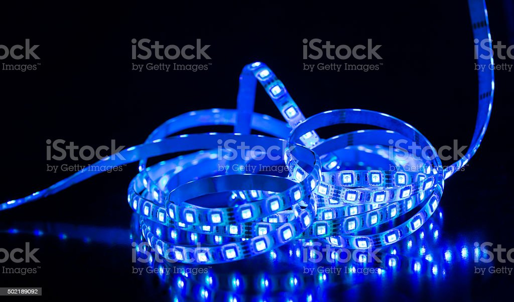 Led stripe stock photo