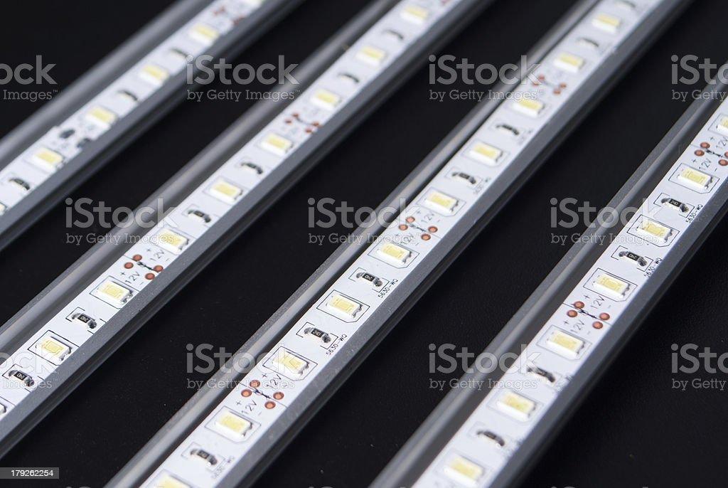 Led stripes on black background royalty-free stock photo
