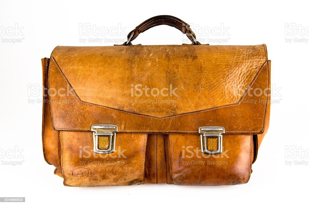 Leather bass satchel-musician – Foto
