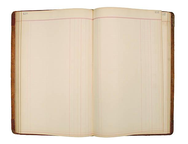 Páginas del libro mayor - foto de stock