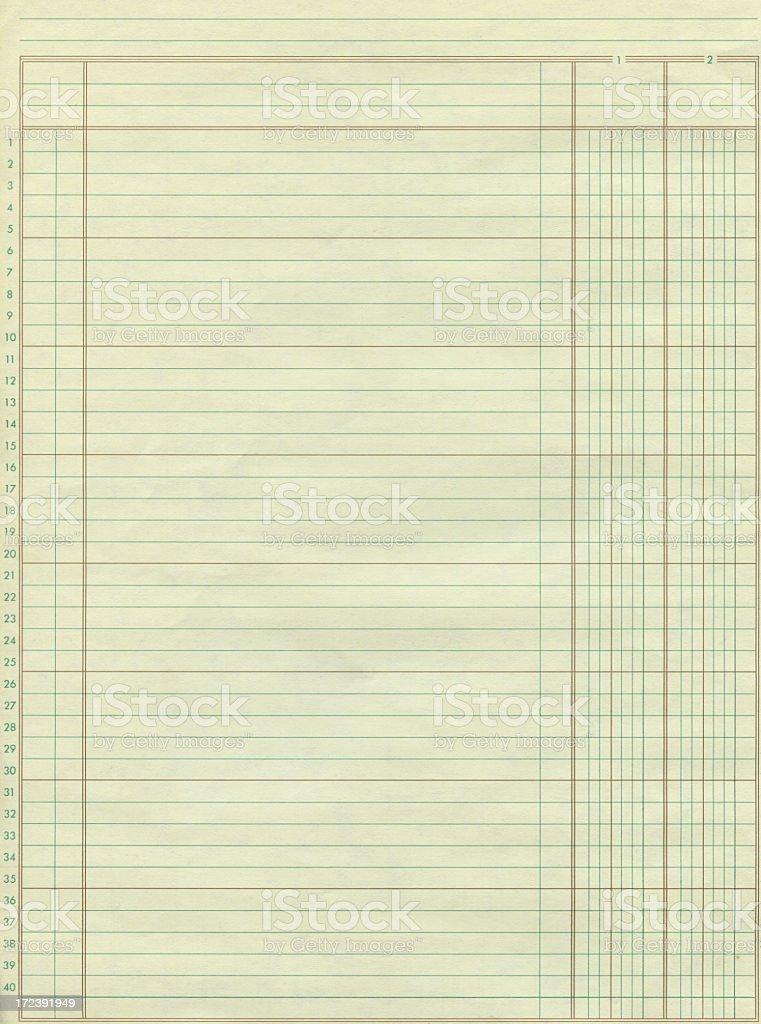 ledger paper royalty-free stock photo