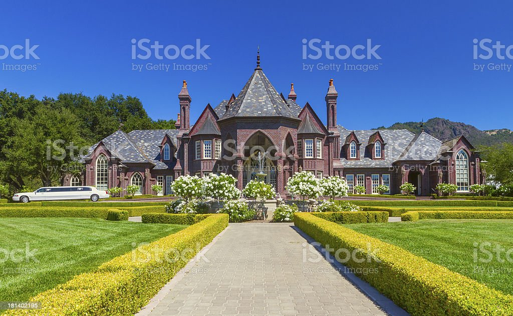 Ledson winery in Napa royalty-free stock photo