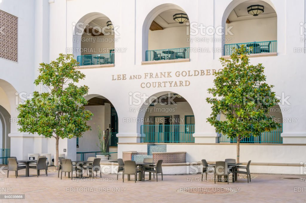 lee and frank goldberg courtyard on the campus of san diego state