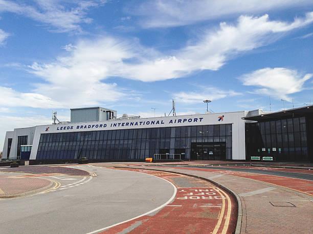 Leeds Bradford international airport stock photo