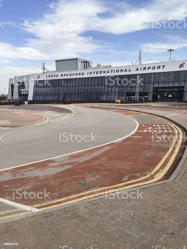 Leeds Bradford international airport stock photo