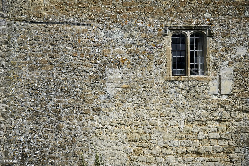 leeds castle wall background small window royalty-free stock photo