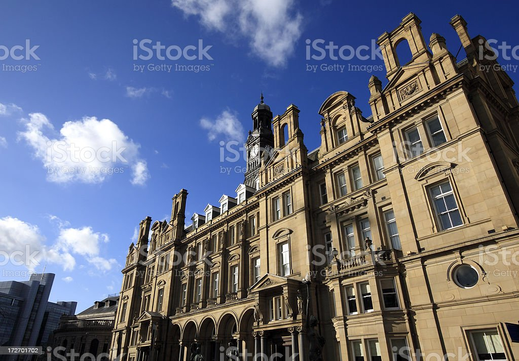 Leeds City Square royalty-free stock photo