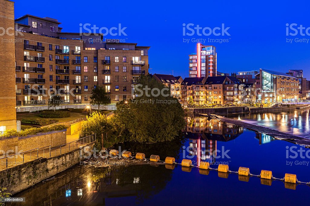 leeds clarence dock stock photo