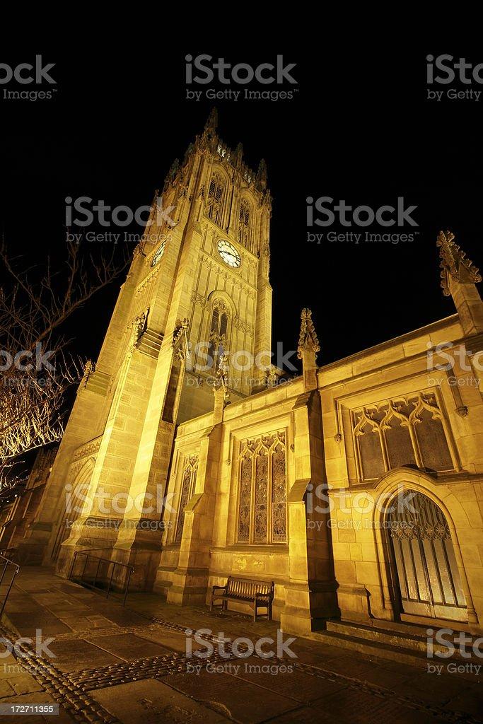 Leeds parish Church at night royalty-free stock photo